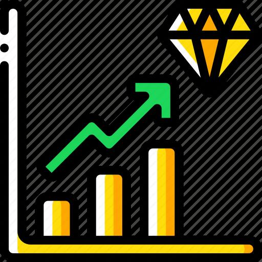 banking, diamond, finance, money, profit, reserve icon