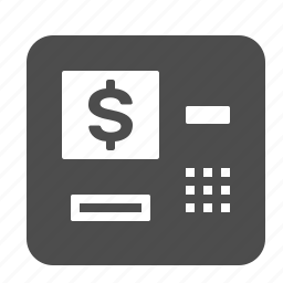 atm, bank, banking, cash, finance, financial, money icon