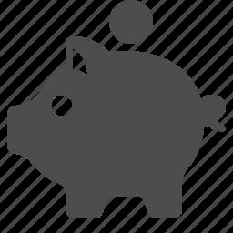 bank, banking, coin, finance, money, piggy, savings icon