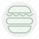 burger, cheeseburger, food icon icon