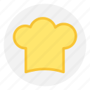 chef, chef cap, chef hat, cooker hat icon icon