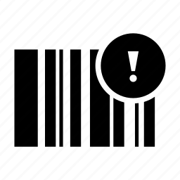 bar code, error, qr code, radar, scan icon