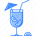 alcohol, bar, club, cocktail, orange, party, straw icon