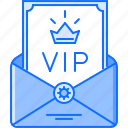 bar, club, invite, letter, party, vip icon