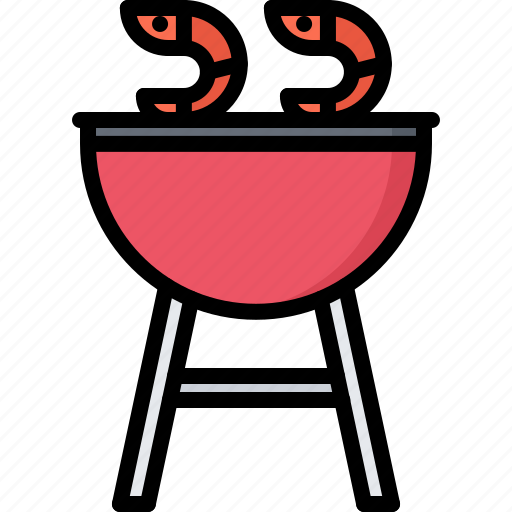 Barbecue, bbq, cooking, grill, shrimp icon - Download on Iconfinder