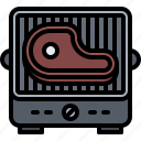 barbecue, bbq, cooking, grill, meat, steak icon