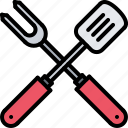 barbecue, bbq, cooking, fork, grill, spatula icon
