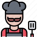 barbecue, bbq, cook, cooking, grill, spatula icon