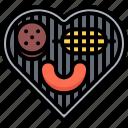 barbecue, burger, corn, grill, heart, love, sausage