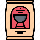 bag, barbecue, bbq, charcoal, coal, cooking, grill icon