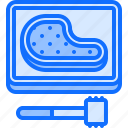 barbecue, bbq, beating, cooking, grill, meat icon