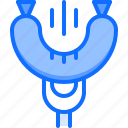 barbecue, bbq, cooking, fork, grill, sausage icon