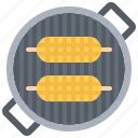 barbecue, bbq, cooking, corn, grill icon