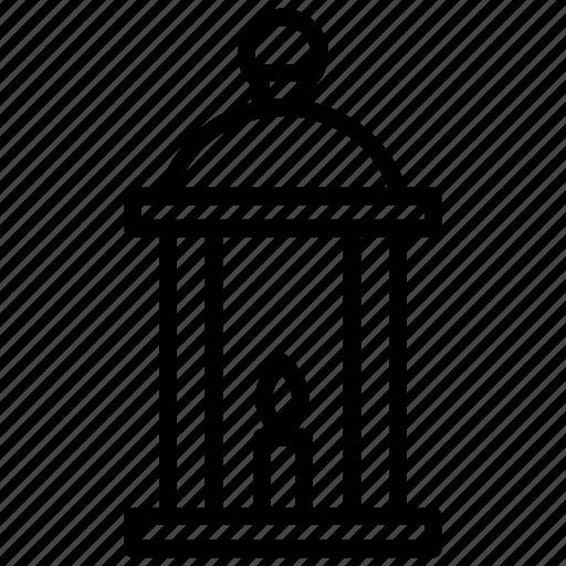 camping lantern, dormer, lantern, traditional flashlight, vintage lantern icon
