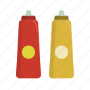 barbecue, bbq, food, grill, ketchup, mustard icon