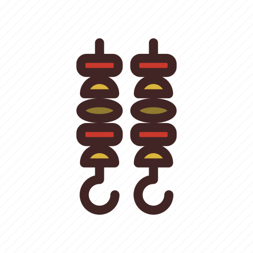 Barbecue, bbq, brochette, cooking, food, grill, skewer icon - Download on Iconfinder