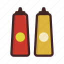 cooking, food, kitchen, mustard, sauce icon