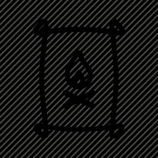 bbq, coal, fire, fuel, grill icon