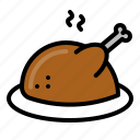bbq, chicken, food, grilled, meat icon