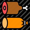 bbq, food, grilled, ham, sausage icon