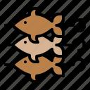 bbq, fish, grilled, skewer