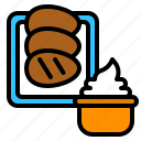 bbq, food, grilled, potato, sour cream, steak icon