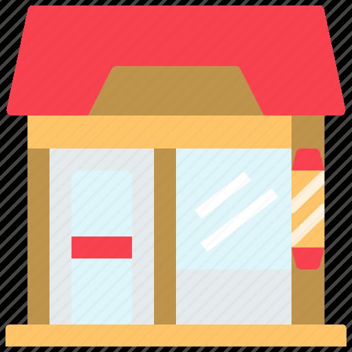 barber, barbershop, salon, store icon