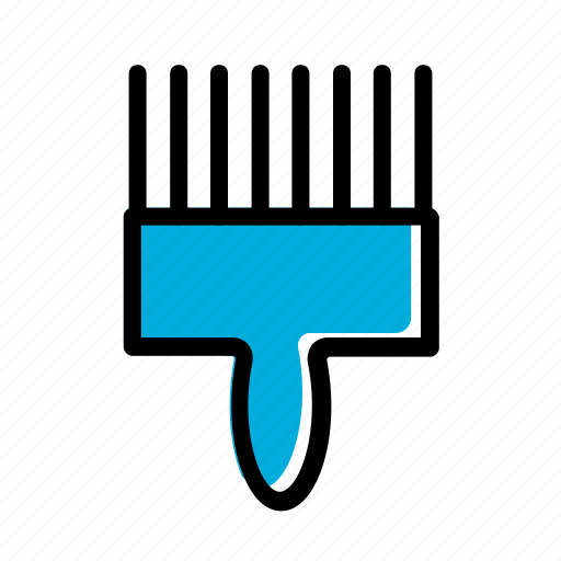 barber, besom, broom, hair brushing icon