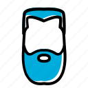 barber, beard, beard shaving, long beard icon