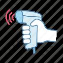 bar code, barcode, qr code, reader, scanner, scanning, wireless icon