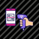 barcode, qr code, qr-code, reader, scanner, scanning, smartphone icon