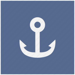 anchor, form, marine, salor icon