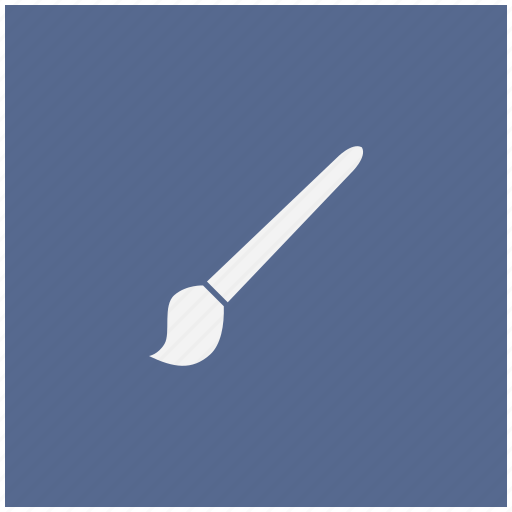 brush, draw, form, instrument, tool icon