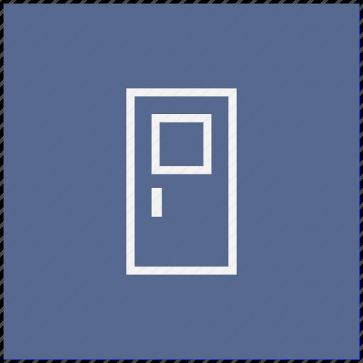 door, exit, form icon