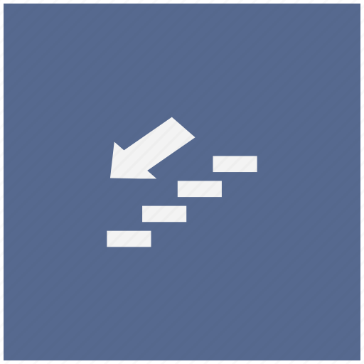 down, form, stairs, way icon