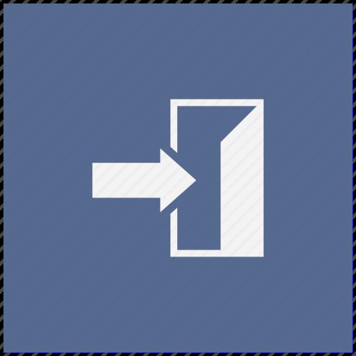 arrow, door, enter, form, way icon