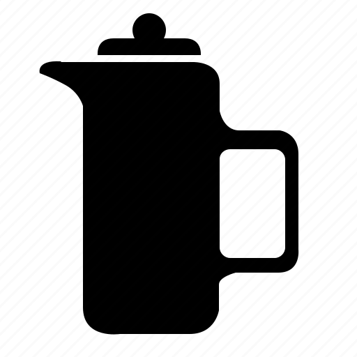 drink, fresh, hot, kettle, press, termo icon