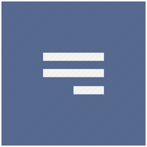 align, form, right, text icon