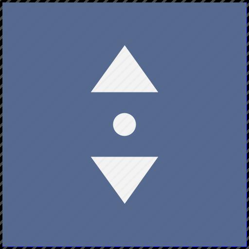 arrows, change, form, menu, vertical icon