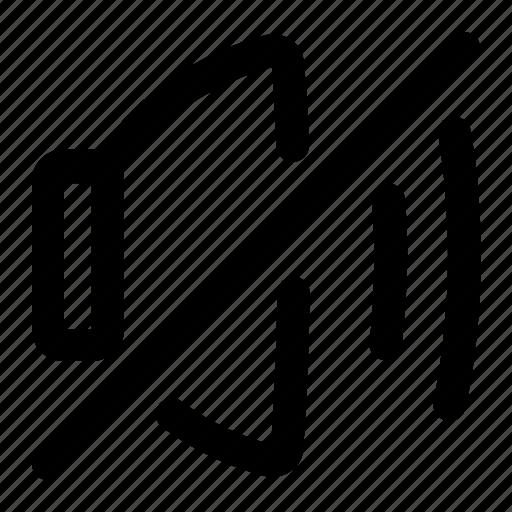 music, mute, slash, volume icon