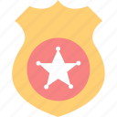 badge, police, security icon