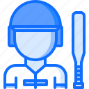 baseball, batter, helmet, man, match, player, sport icon
