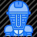baseball, catcher, helmet, man, match, player, sport icon