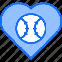 ball, baseball, heart, love, match, player, sport