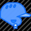 baseball, helmet, match, player, protection, sport icon