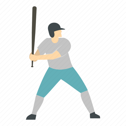 Baseball, bat, male, people, player, playing, sport icon - Download on Iconfinder