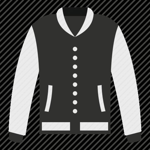 american, baseball, cloth, fashion, jacket, sport, template icon