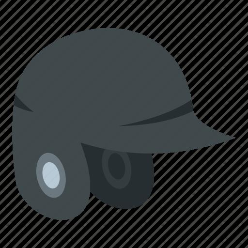 baseball, equipment, grey, helmet, protect, protection, sport icon