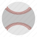 ball, baseball, equipment, game, leather, leisure, sport icon