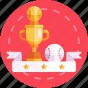 winner, prize, award, cup, baseball, trophy
